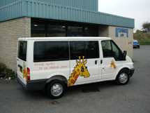 Kenhire 2002 - Contract Hire Vehicle Ford Tourneo with Graphics